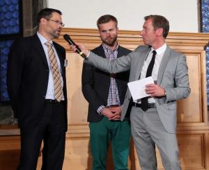Dr. Volker Klügl | Olypmiasieger Max Müller | Markus Othmer bei der Auftaktveranstaltung Team Nürnberg