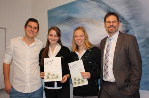 von links: Christopher Wesley, Elena Krawzow, Katrin Gottwald, Dr. Volker Klügl