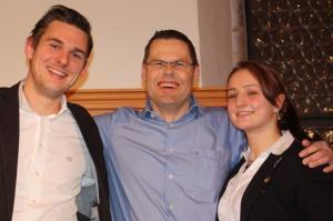 von links: Christopher Wesley, Volker Klügl, Elena Krawzow