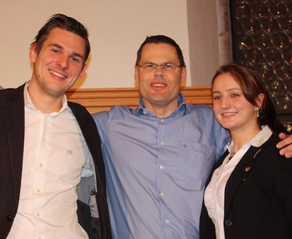 Sportler  des Jahres Nürnberg 2013 Christopher Wesley - Elena Krawzow In der Mitte: Förderer Volker Klügl