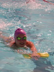Gute Laune beim Schwimmtraining