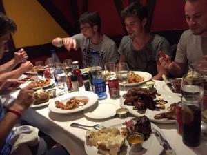 Abendessen mit dem Team