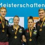 Katrin Gottwald holt GOLD mit der 4 x 100 Lagen Mixed Staffel für Nürnberg