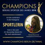 Elena Krawzow Schwimmblog: Nominierung